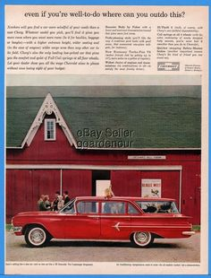 1960 Chevrolet Chevy Red Kingswood Station Wagon Beagle Meet Dog Cat Ad
