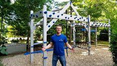 Backyard Jungle Gym, Backyard Playset, Backyard For Kids, Backyard Sports, Kids Ninja Warrior, Ninja Warrior Course, American Ninja Warrior Obstacles, Backyard Obstacle Course, Kids Obstacle Course