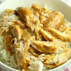 Slow Cooker Chicken and Gravy is what comfort food is all about in our house and it is totally ahhh-mazing! Easy and delicious always wins in our home. Crockpot Chicken And Gravy, Cream Of Chicken Soup, Slow Cooker Chicken, Onion Chicken, Onion Soup, Easy Soup Recipes, Chicken Recipes, Dinner Recipes, Chicken Meals