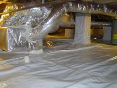 Encapsulated (also called conditioned, sealed, or closed) crawl space  100% coverage of the ground with a vapor barrier Seams and junctions of vapor barrier sealed Sealed crawl space vents Insulated foundation walls and band joist (usually) Conditioning of air with one of three methods: (i) dehumidifier, (ii) small amount of supply air from HVAC system, or (iii) small exhaust fan
