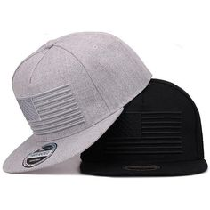 02476efa6f1 Adults 3D Embroidered Raised American Flag Flat Bill Baseball Cap Cool Hats