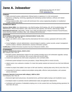 Wonderful Systems Administrator Resume Sample (Entry Level)