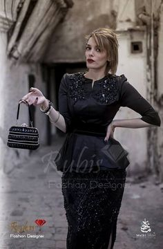rubis fashion designer karakou noir