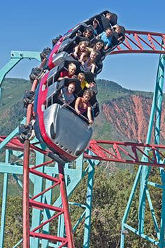 Glenwood Springs Colorado - Thrill rides at Glenwood Caverns Adventure Park