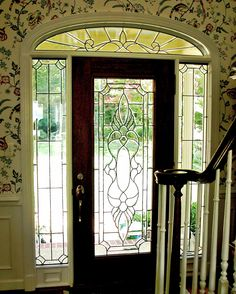 Harris Belves design.  #stainedglass #door #custom-made #beautiful #classy #privacy #beveled #artsy #elegant #decor #textured #homedecor #traditional