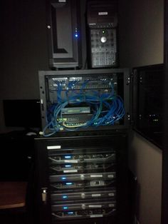 New Network Cabinet with Cooling