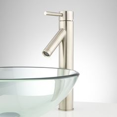 Eleanor Single-Hole Vessel Faucet - No Overflow - Brushed Nickel