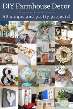 Learn how to make DIY farmhouse decor for every room of your home! Get ideas for living room, bedroom, bathroom, kitchen, and the holidays. Crafty Christmas Gifts, Christmas Mason Jars, Christmas Door Decorations, Christmas Signs, Farmhouse Style Decorating, Farmhouse Decor, Decoupage Letters, Pantry Organization Labels, Chalk Paint Mason Jars