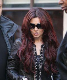 Cheryl Cole red hair.