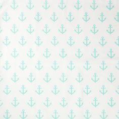 Mint Anchors Away Fabric