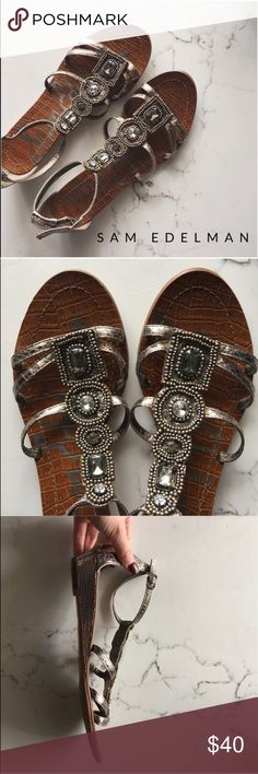 • Sam Edelman Sandals Worn a few times sign of wear on the bottom. So cute and easy to dress Sam Edelman Shoes Sandals