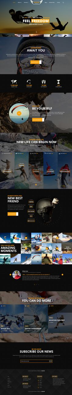 Layout / website, dark, concept, yellow, sport, layout