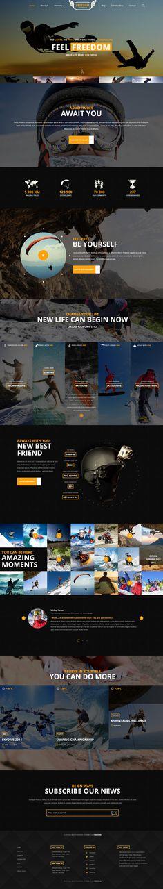 website, dark, concept, yellow, sport, layout — Designspiration