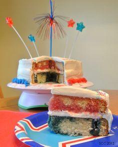 Red, White, & Blue Poke Cake