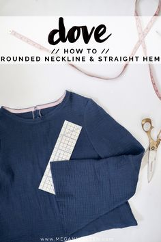 How to make a Dove blouse with a rounded neckline and straight hem — megan nielsen design diary Blouse Tutorial, Add Sleeves, Bias Tape, Rolled Hem, Bell Sleeve Dress, Silk Crepe, Neckline, Sewing Tips, Sewing Ideas