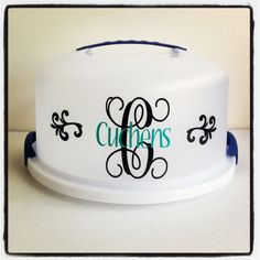 Personalized cake carrier by KCN Designs