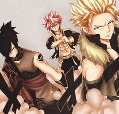 Natsu, Rogue, Sting