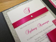 Glitter+Invitation+Pocket+Invitation+Glitter+and+by+pishposhparty,+$6.00