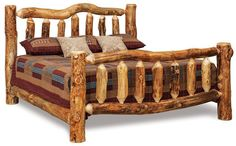 Amish Rustic Log Furniture Bed Amish Log Furniture Collection The Amish Rustic Log Bed is a great example of quality American made log furniture. Choose from a twin, full, queen, or king size to Log Bedroom Sets, Queen Bedroom Suite, Log Bedroom Furniture, King Size Bedroom Sets, Rustic Log Furniture, Amish Furniture, King Bedroom, Outdoor Furniture, Light Bedroom