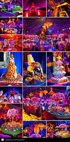 Bright and colorful wedding (just thought this was really pretty)
