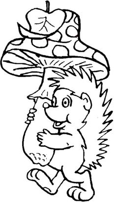 coloring page Hedgehogs on Kids-n-Fun. Coloring pages of Hedgehogs on Kids-n-Fun. More than coloring pages. At Kids-n-Fun you will always find the nicest coloring pages first! Family Coloring Pages, Cute Coloring Pages, Animal Coloring Pages, Printable Coloring Pages, Coloring Pages For Kids, Fairy Coloring, Kids Coloring, Easy Fall Crafts, Fall Crafts For Kids