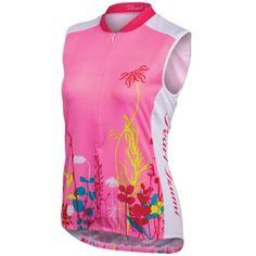 Pearl Izumi Women's Pink Punch Bouquet Select LTD Cycling Jersey - Sleeveless