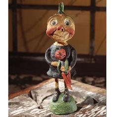 BETHANY LOWE HALLOWEEN Gourd Girl Paper Mache HopHopJingleBoo Figure