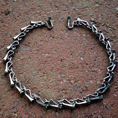 Horseshoe Nail Equestrian Link Necklace by wirestormcreations, $80.00