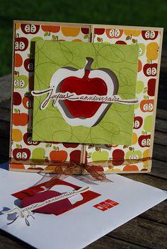 Carte anniversaire pomme