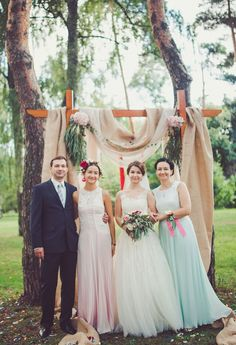 rustic wedding arch idea
