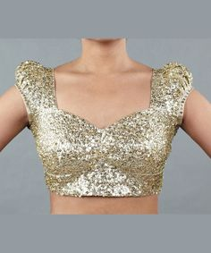 Sequin saree blouse style