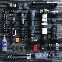 Hey look it's a camera gear buffet   Photo by @trevortraynor Tag someone who needs one if everything  #camera #gear #canon #sony #cameras #lens #canoneos #sonyalpha #videoshoot #photoshooting #equipment #videography