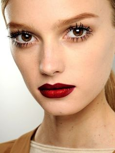 red lipstick holiday makeup
