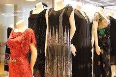 This black and silver beaded flapper dress looks like a skyline shimmering at night.