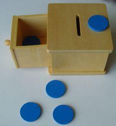 montessori toddler - Products could make it from a shoe box Montessori Quotes, Montessori Education, Montessori Classroom, Montessori Materials, Montessori Activities, Toddler Activities, Montessori 12 Months, Montessori Toddler Rooms, Toddler Learning