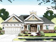 Ranch House Plan with 1285 Square Feet and 3 Bedrooms(s) from Dream Home Source | House Plan Code DHSW59039