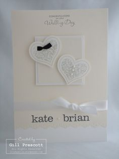 Stampin Up Wedding card
