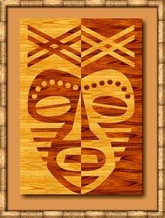 African Mask Lesson--also great for positive/negative and symmetry.