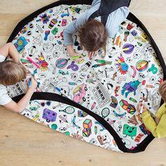 Opbergzak- speeltapijt Colormap - PLAY&GO https://www.livingdesign.be/nl/merken/playgo