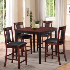 Counter Height Five Piece Dining Set - Overstock™ Shopping - Big Discounts on Dining Sets