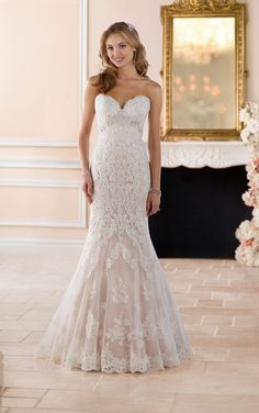 6379 Romantic Lace Wedding Gown by Stella York