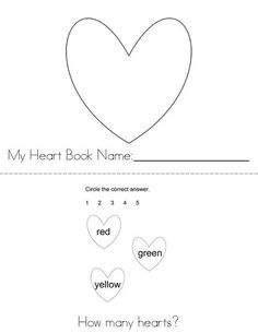 Hearts! Book from TwistyNoodle.com