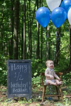 6 month photography | baby boy | half birthday photo shoot | balloons | bow tie