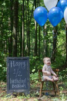 6 month photography | baby boy | half birthday photo shoot | balloons | bow tie