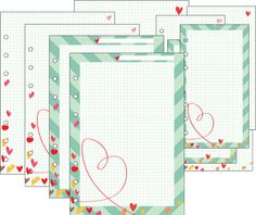 DIYfish | For Lovers | Feb 2013 templates for A5 & Personal Filofax