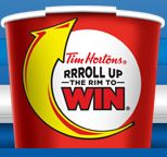 Tim Hortons Roll Up The Rim To Win! - Our favorite time of the year at Tim Hortons. Since my wife and I have met, this has been an ongoing game that we play. It so happens that time is now. 2012 edition has her at 2 (Coffee and Donut) for 6 while I'm sadly at 0 for 6. Hopefully I can catch up before the contest ends.    Update: I've ended up at 1 for 13. How sad. :(