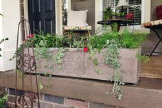 décoration-jardin-pas-cher-fabriquer-béton-coulé-grande-jardinière-béton