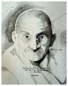 Gandhi sort/hvid