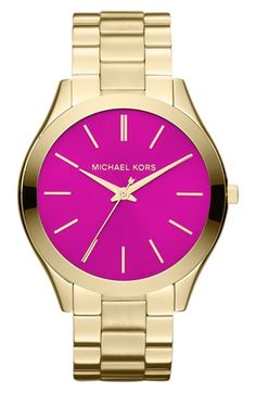Michael Kors 'Slim Runway' Bracelet Watch