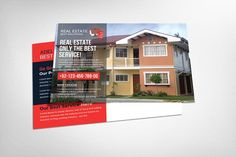Real Estate Postcard Template by Business Templates on @creativemarket